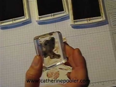 Make your own Background Paper with Rubber Stamps!