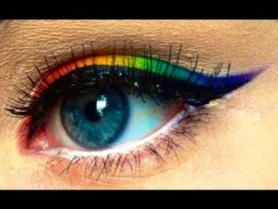 Makeup Tutorial: Rainbow Winged Eyeliner (LGBT, PRIDE & MLP) | emmajvb