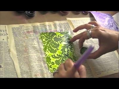 Marah Johnson's LuminArte and Flocked paper technique #1