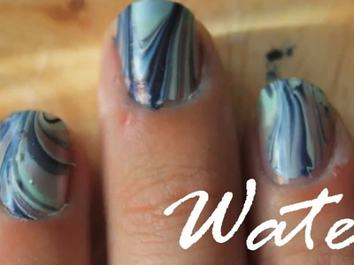 Ocean Blue Water Marble - Detailed Explanation (Nail Polish Art Request)