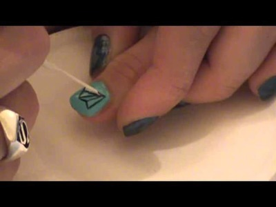 Paper Airplane Nail Art Tutorial