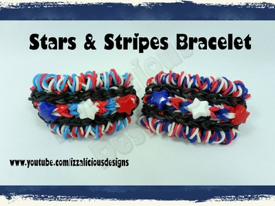 Rainbow Loom - Stars and Stripes Bracelet - 4th July.Independence Day - Gomitas