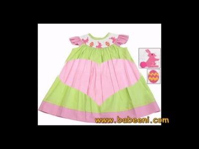 Smocked dress - bishop dress - smocking dress - baby smocked dress - smocked baby clothing.flv