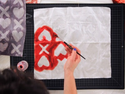 Tie Dye Patterns with Hearts & Other Shapes | Tie Dyeing