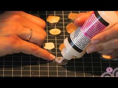 Tim Holtz Charm Bracelet (Step 4)- Using Inkssentials Glossy Accents