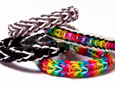 Vesper Rainbow Loom Bracelet Tutorial - Advanced Design