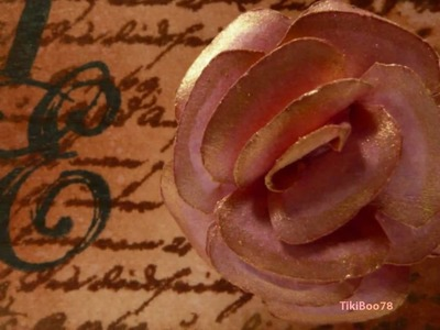 Vintage Tag with Tiny Tim Holtz Rose