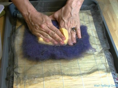 Wet Felting Over a Resist Part 1
