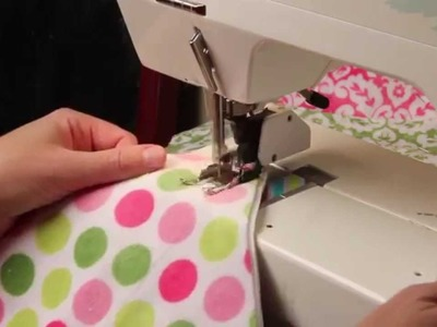 Why you need a walking foot and how to sew a rag quilt square together