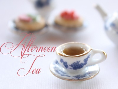 Afternoon Tea - Miniature Dollhouse Tea & Pastries - Polymer Clay Tutorial