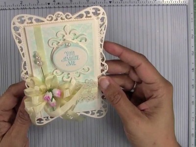APG - Spellbinders Hinged Card Bases for Filigree Shaped Cards
