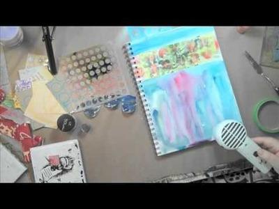 Art Journaling Fast Forward: Julie's Paint Splat #2