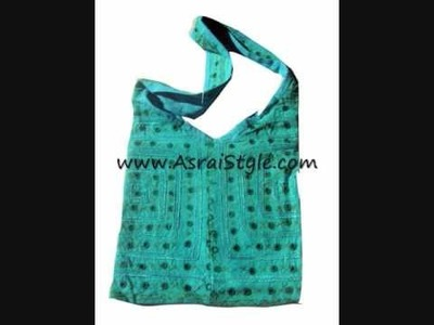 Bohemian Handmade Embroidered Fabric Handbags at AsraiStyle.com