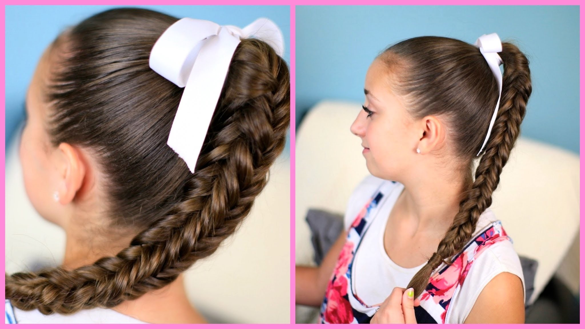 Box {Four-Sided} Fishtail Braid | Wear it Down or Up in a Bun!