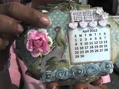 Calendar mini album and stick pins 1-5-2012