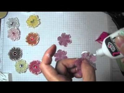 Cheesecloth fabric flower tutorial