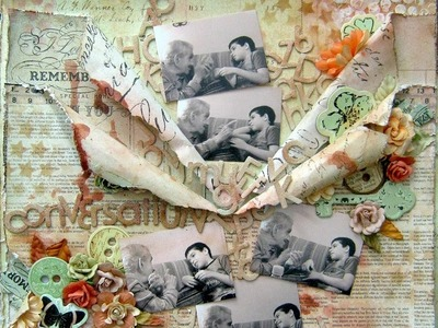 """Conversation"" - Mixed Media Layout tutorial ~ Prima"