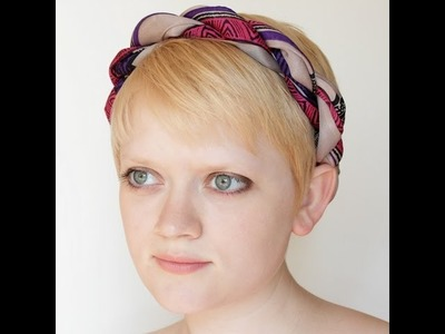 Convert a Scarf into a Headband (without destroying it) | Hands Occupied