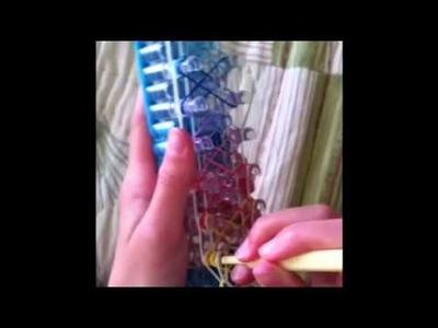 Crazy 8 rainbow loom bracelet tutorial