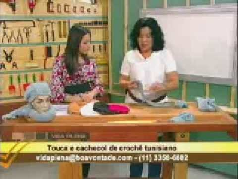 Crochê tunisiano com Mary - cachecol touca 02