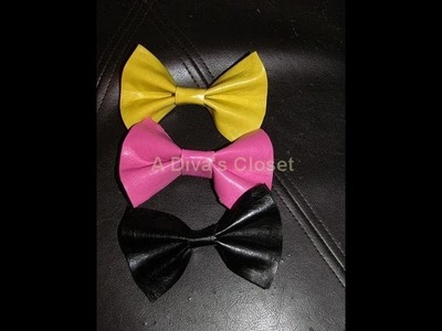 "D.I.Y. ""Inspired"" Faux Leather Bow Ties"