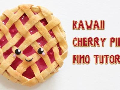 [Fimo Friday] Kawaii Cherry Pie Fimo Tutorial. Kawaii Cherry Pie polymer clay | Anielas Fimo