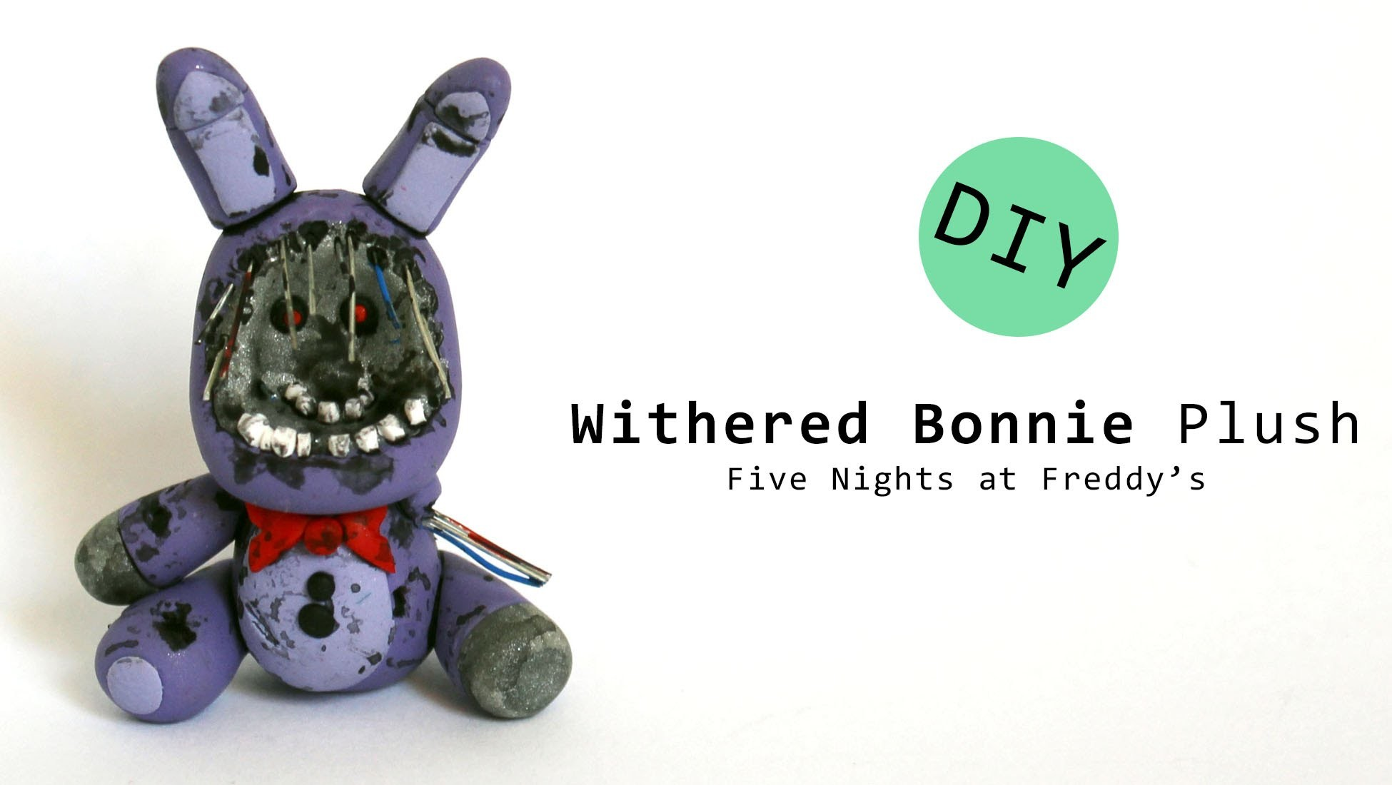Five Nights at Freddy's 2 Withered Bonnie Plush Version Polymer Clay Tutorial