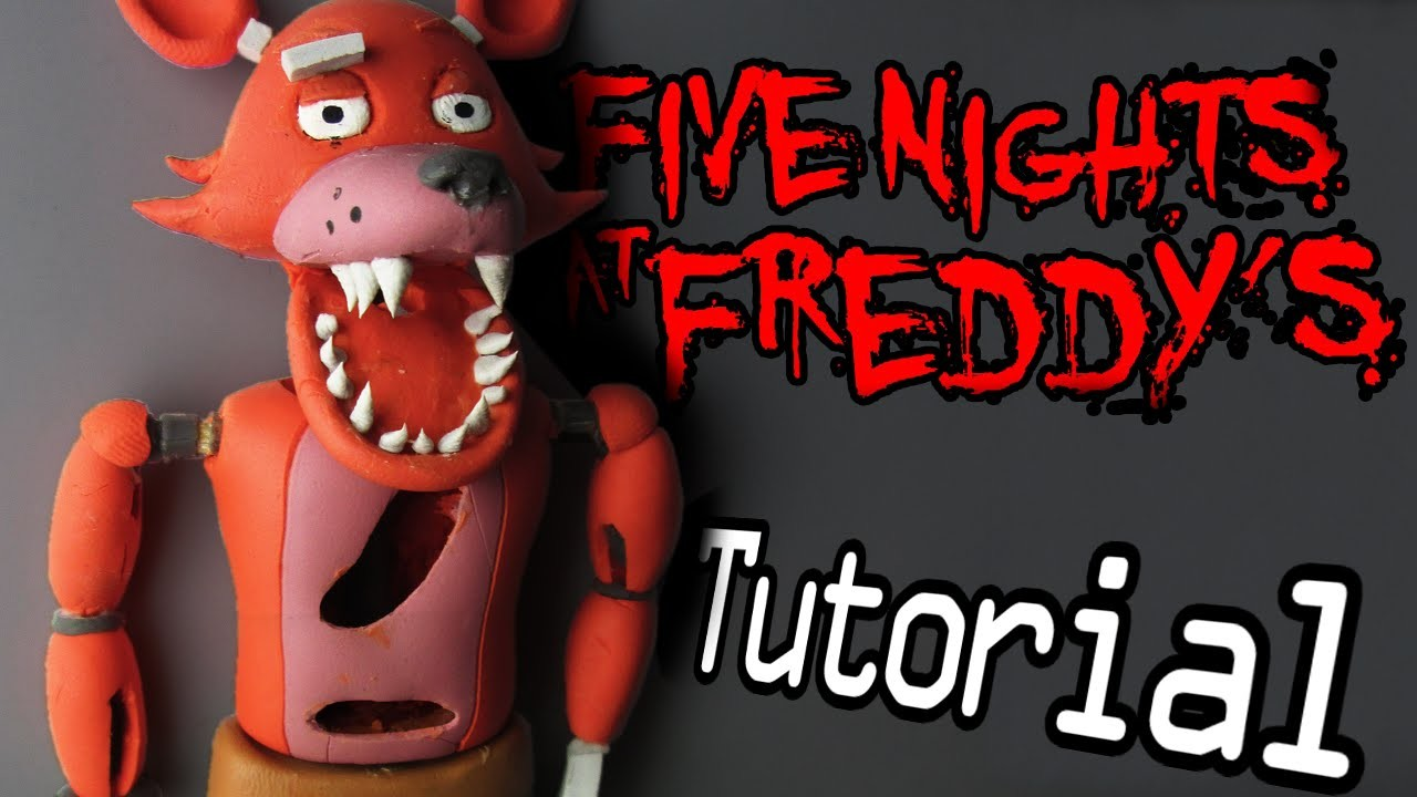 FOXY Five Nights At Freddy's Polymer Clay Tutorial | Porcelana Fría. Plastilina