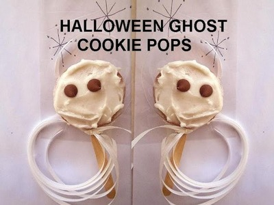 GHOST COOKIE POPS, Halloween treats, quick and easy