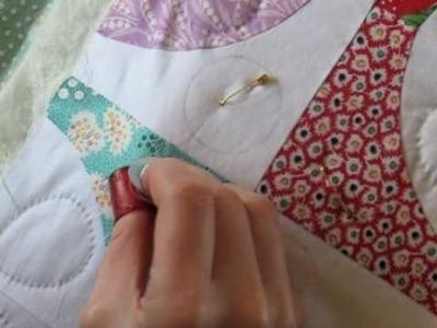 Hand Quilting 5 -- Stitching