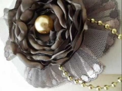 Handmade Satin and Lace Flowers - Carftbrulee