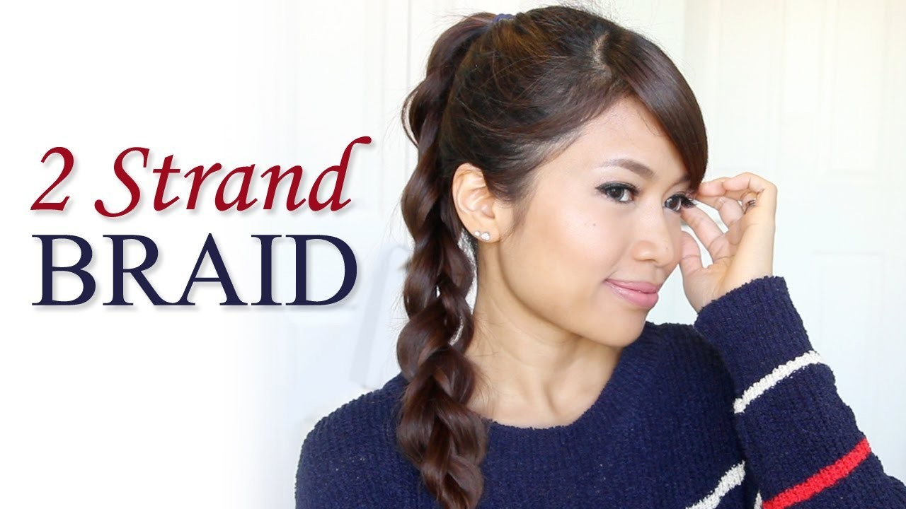 How to: 2-Strand Braid Ponytail Hair Tutorial | Hairstyles for Long Hair