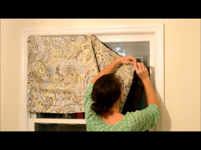 How to Create a Valance from a Pillow Casem