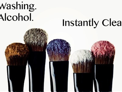 HOW TO INSTANTLY CLEAN YOUR MAKEUP BRUSHES WITHOUT WASHING. SPRAY OR ALCOHOL!