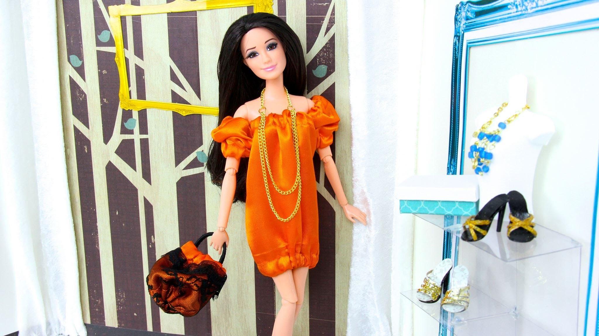 How to Make a Doll Pumpkin Skirt, Dress & Handbag | Plus Custom MLP Fluttershy