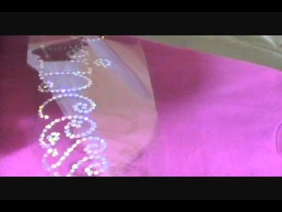 How to make a Rhinestone Transfer with ez sequins and poor mans Rhinestones.wmv