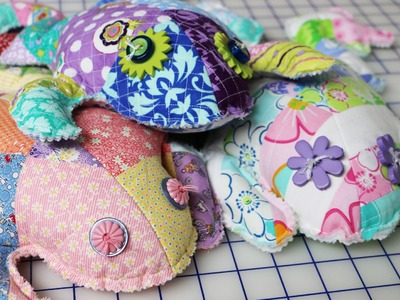 How to Make a Stuffed Frog Toy by Me & My Sister Designs - Frog Patch Pattern - Fat Quarter Shop
