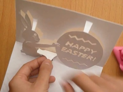 How To Make: Happy Easter's Pop-Up Card Tutorial - Template 2 of 2