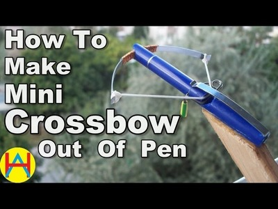 How To Make Mini Crossbow Out Of Pen