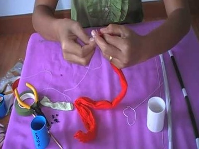 How to make stocking flower (butterfly) by www.ployandpoom.com