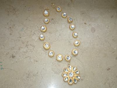 How to make terracotta kundan necklace : terracotta.clay jewellery making tutorial