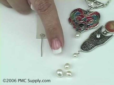 How to use fresh water pearls with metal clay using fine silver wire