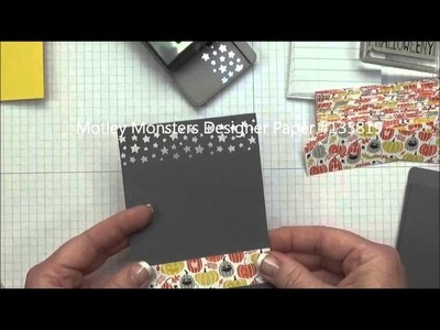 How to use the Confetti Stars Border Punch Stampin' Up!