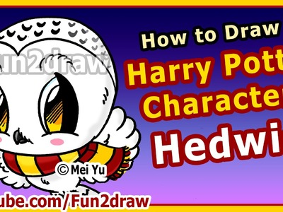 Learn to Draw Harry Potter Characters - Hedwig - Fun2draw Art Lessons