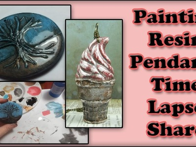 Painting My Resin Pendants Time Lapse Share