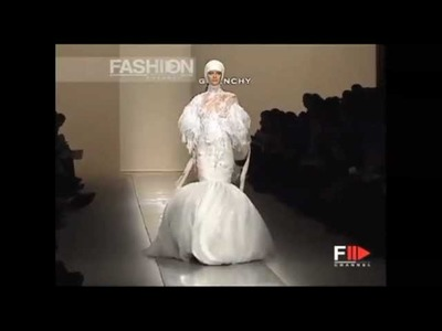 Runway Mishaps during Givenchy Spring.Summer 2002 Haute Couture fashion show