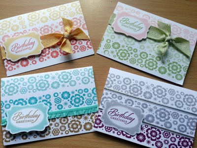 Set of quick Stampin Up birthday cards