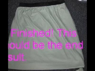 SEWING TUTORIAL: Elastic Waistband Flowy Skirt (High Waisted)