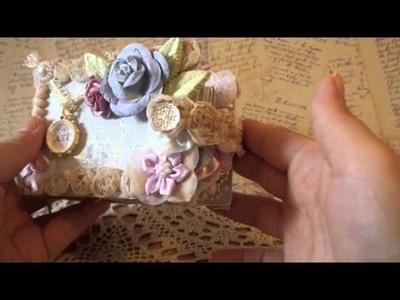 Shabby Chic Tissue Rolls Mini with Lace Binding