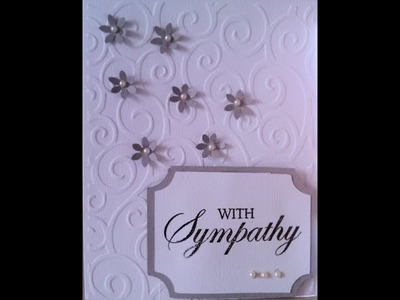 Simple Sympathy Handmade Card
